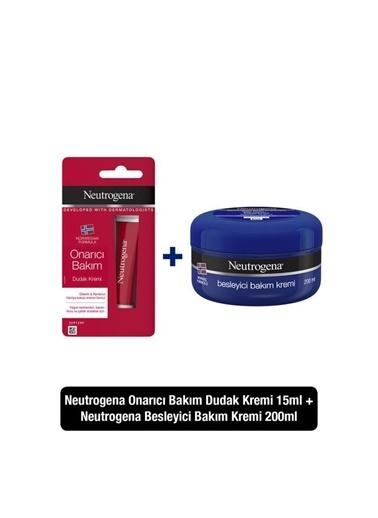 Neutrogena Besleyici Bakım Kremi 200 Ml+ Onarıcı Bakım Dudak Kremi 15 Ml Renksiz